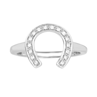 ASPCA® Tender Voices™ 1/10 CT. T.W. Diamond Horseshoe Ring
