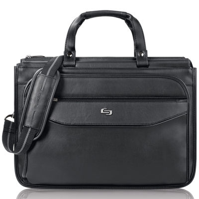 "SOLO Classic 16"" Triple-Compartment Laptop Briefcase"