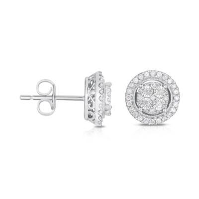 TruMiracle® 1/4 CT. T.W. Diamond 10K White Gold Stud Earrings