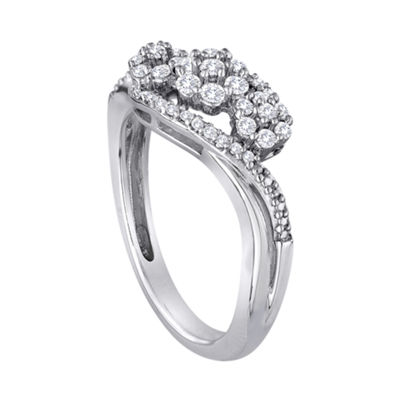 diamond blossom 1/2 CT. T.W. Diamond Sterling Silver Cluster Ring