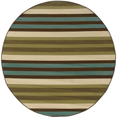 Covington Home Martinique Stripe Indoor/Outdoor Round Rug