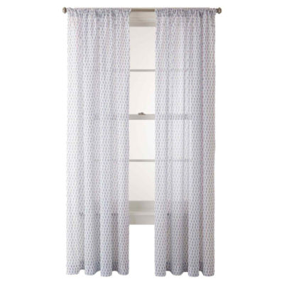 JCPenney Home™ Sasha Rod-Pocket Cotton Sheer Panel