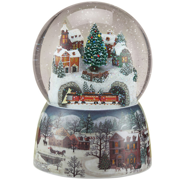 Roman Revolving Train Snow Globe