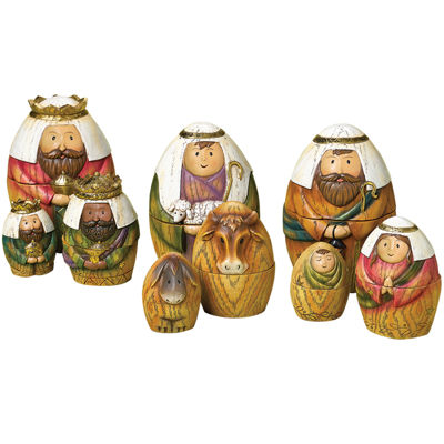 Roman 9-pc. Nativity Nesting Dolls