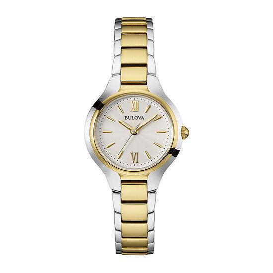 Bulova Classic Womens Two Tone Stainless Steel Bracelet Watch-98l217
