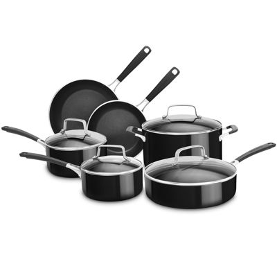 KitchenAid® 10-pc. Aluminum Nonstick Cookware Set KC2AS10OB