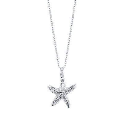 Sparkle Allure Green Crystal Star Pendant Necklace
