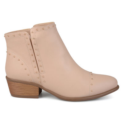 Journee Collection Womens Gypsy Bootie Block Heel Pull-on