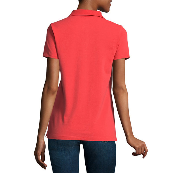 St johns bay short sleeve knit polo shirt talls jcpenney for Jcpenney ladies polo shirts