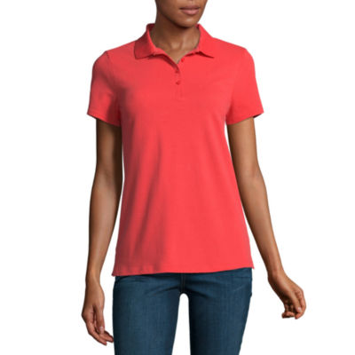 St. John's Bay Short Sleeve Knit Polo Shirt - Tall