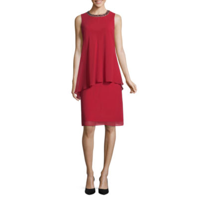Scarlett Sleeveless Embellished Shift Dress - Tall