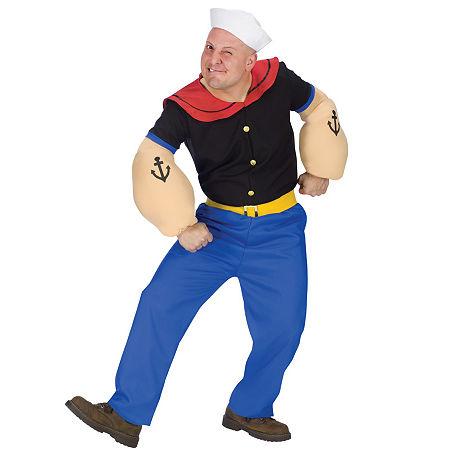 Popeye Adult Costume Mens Costume Mens Costume, One Size , White