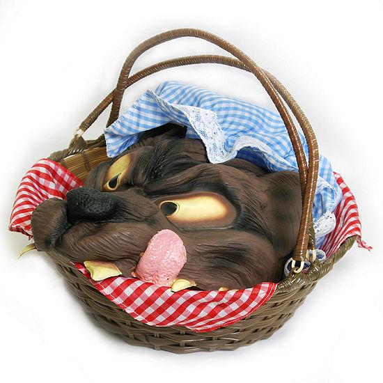Basket W/Wolf's Head