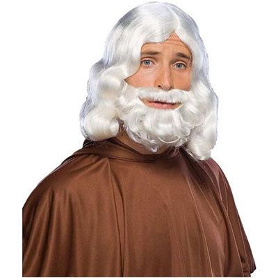 Short White Beard And Moustache