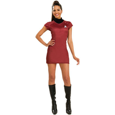 Star Trek Movie Deluxe Red Dress Adult Costume