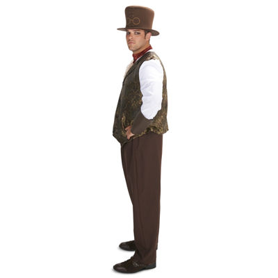 Steampunk Man with Neck Piece Adult Plus Costume