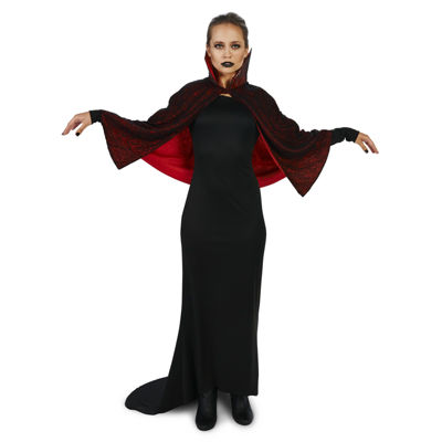 Sultry Vampire Dress with Capelet Adult Costume