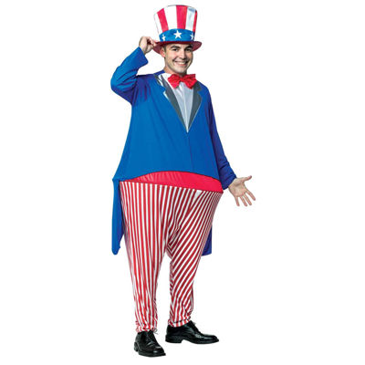 Uncle Sam Adult Hoopster Costume - One Size Fits Most