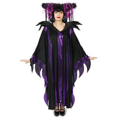 Black and Purple Fantasy Adult Wig