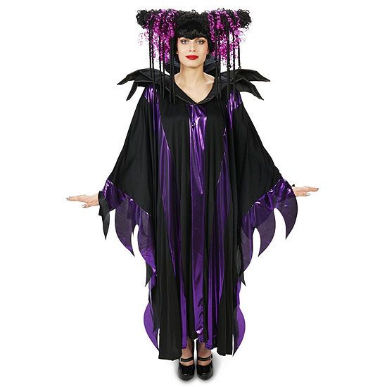 Maleficent: Black And Purple Fantasy Adult Wig Dress Up Accessory
