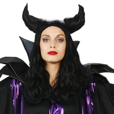 Black Horned Magnificent Adult Wig