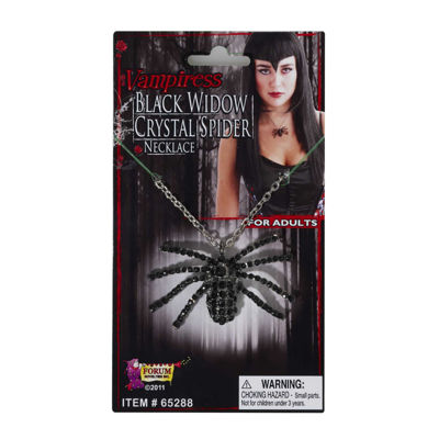 Black Widow Necklace Deluxe Costume Accessory