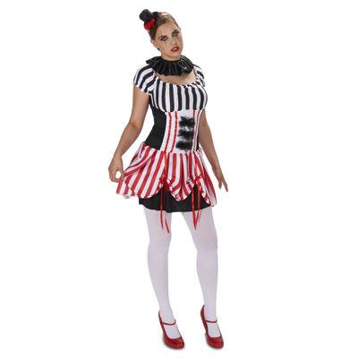 Carn-Evil Vintage Striped Dress Adult Costume