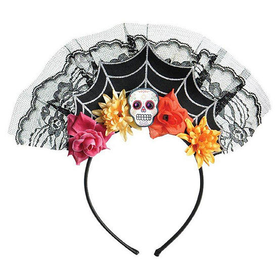 Day Of The Dead Spiderweb Headband