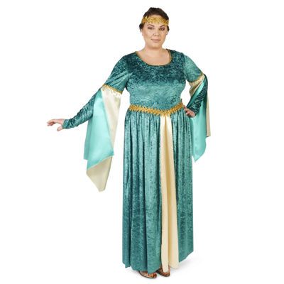 Renaissance Teal Velvet Dress Adult Costume