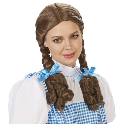 Dorothy Pigtail Adult Wig
