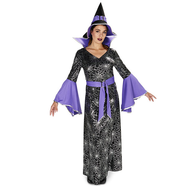 Enchanting Witch Foil Printed Dress Adult Costume