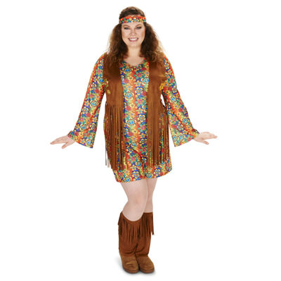 Fringe 60s Adult Plus Costume
