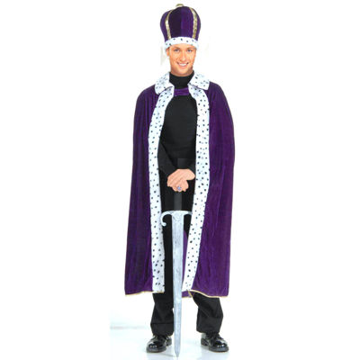 King Robe & Crown Set Adult Costume