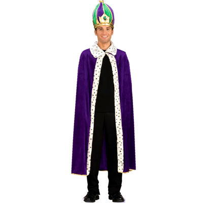 Mardi Gras Robe & Crown Adult Costume