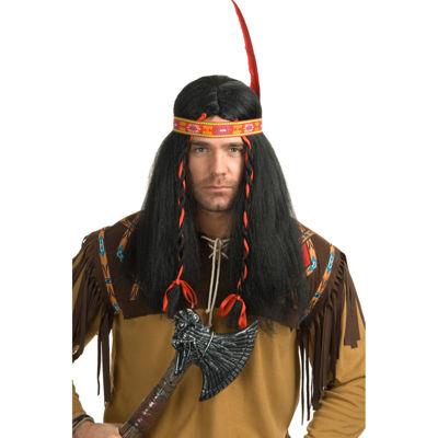 Native American Warrior Mens Wig