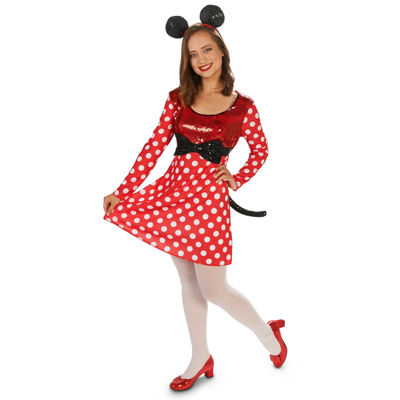 Red & White Mouse Dress Adult Costume