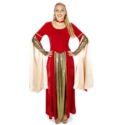 Red Velvet Renaissance Dress Adult Costume
