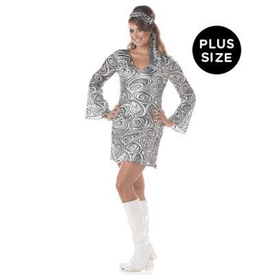 Buyseasons Discodivasilver 2-pc. Dress Up Costume Womens