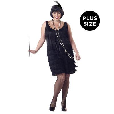 Flapper Fashion Plus Adult Costume