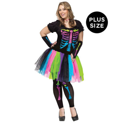 Funky Punk Bones Plus Adult Costume