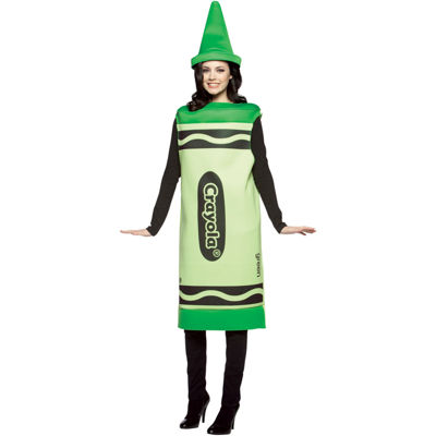 Green Crayola Crayon Adult Costume