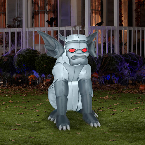 Grey Gargoyle Airblown with Lights