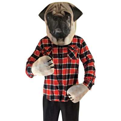 Pug Adult Animal Costume Kit