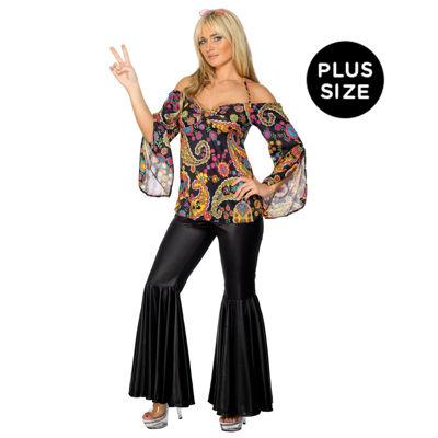 Hippie Costume Adult Plus Costume