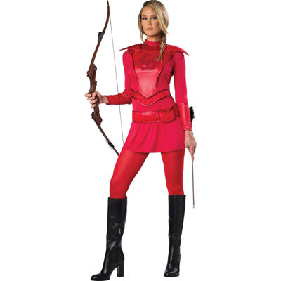 Red Warrior Huntress Adult Costume