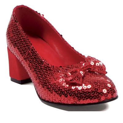 Judy Adult Red Sequin Shoes