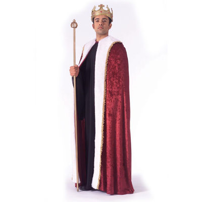 King Robe Burgundy Adult Costume