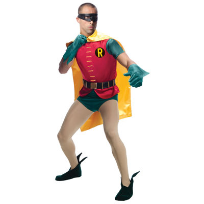 Batman Classic 1966 Series Grand Heritage Robin Adult Costume - One Size Fits Most