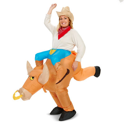 Ride a Bull Inflatable Adult Costume - One Size Fits Most