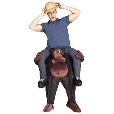 Ride a Gorilla Adult Costume - One Size Fits Most